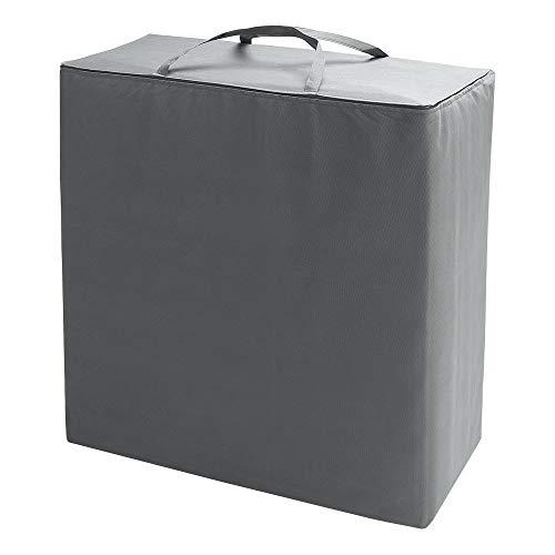 Detex Aufbewahrungstasche für Faltmatratze 65 x 70 x 30cm Klappmatratze Grau Schutzhülle Hülle Transporttasche Matratze Tasche