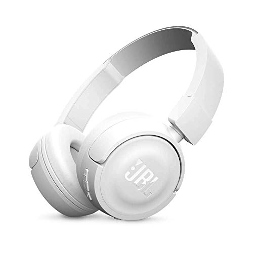 JBL Pure Bass Sound Bluetooth T450BT Wireless On-Ear Headphones White (Renewed)