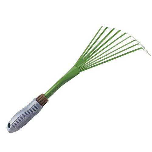 Balacoo handrechen gartenrechen klein - 9 zähne Eisen langlebig verdicken Reiniger reinigungsrechen pet KOT rechen gartengeräte für Hotel Rasen Garten grün