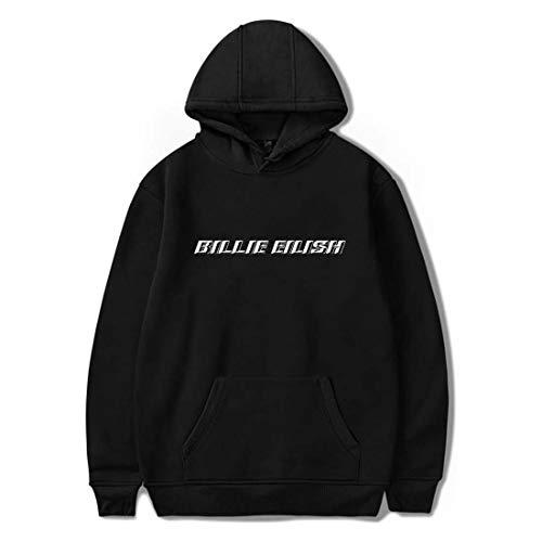 Flyself Unisex Felpa con Cappuccio di Billie Eilish Stile Classico Bellyache Moda Hoodie Pullover Hip Hop Tops per i Fan Bambini e Ragazzi