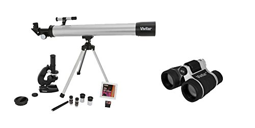 Vivitar VIV-TELMIC-40-BLK Telescope, Microscope and Binocular Kit, Black