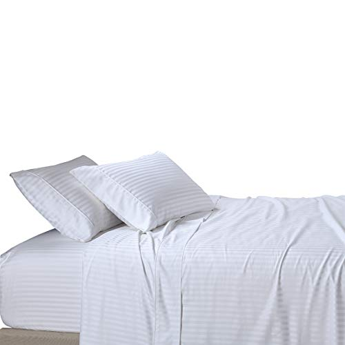 Royal Tradition Damask Striped 600-Thread-Count, 100-Percent...