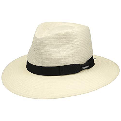 Stetson Traveller Toyo Tokeen Hombre - Sombrero de Paja Sol Outdoor con Banda Grosgrain Primavera/Verano - XXL (62-63 cm) Natural