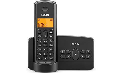 Telefone sem Fio Elgin com Secretária Eletronica e identificador TSF800SE Preto, Elgin, TSF800SE, Preto