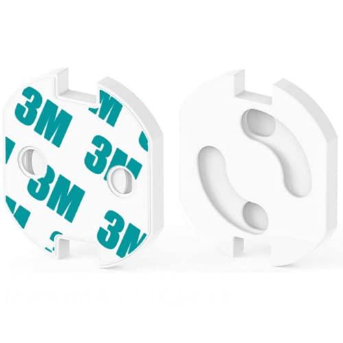 HOMYBABY [25pcs] Protector enchufes para bebes y niños | Kit Seguridad Infantil | Producto Certificado (CE) | Cubre Enchufes | Tapa enchufes bebe con mecanismo de giro + adhesivo 3M | Seguridad bebe