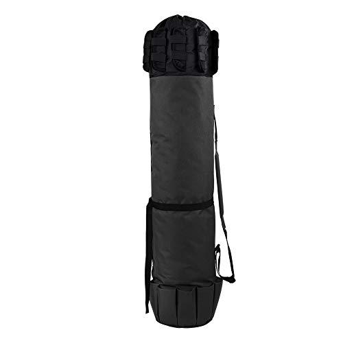 Best-ycldcyp Outdoor Fishing Rod Pole Reel Lures Box Tackle Storage Bag Adjustable Shoulder Strap (Black)