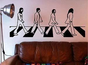 Online Design The Beatles Abbey Road Adhesivo de Pared con Texto Vinilo Lounge Dormitorio Música - Naranja