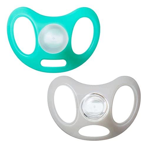 Tommee Tippee Chupete Advanced Sensitive Skin, Protector con Mínimo Contacto con la Piel, Diseño Anatómico Simétrico, 0-6m, Pack de 2