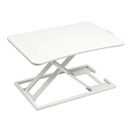 EPHEX Ergonomischer Höhenverstellbarer Schreibtisch, Sitz-Steh-Schreibtisch Computer Monitor&Laptop Standtisch Sit-Stand Workstation, 72.5 x 47cm Plattform, 6cm zu 39.5cm Höhenverstellbare