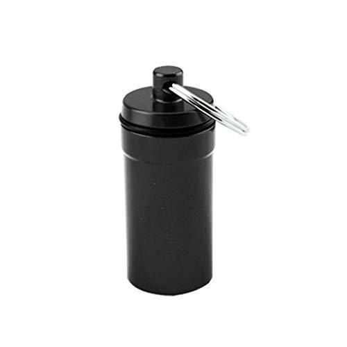 Qinghengyong Impermeable Cuadro Titular de contenedores Impermeable Llavero recipientes Botella Llavero de aleación de Aluminio