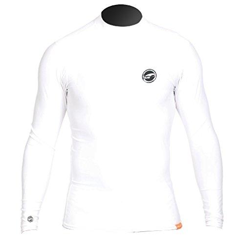 Prolimit Hombre Manga Larga. UV badeuv de Camiseta, Hombre, PLRASHLI-WH/L, Weiß, Large
