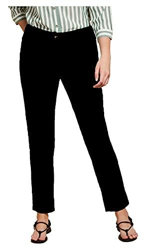 Marina Rinaldi Persona Linea N.O.W Pantalone Donna Linea Perfect Modello Jeans Art 11.7132071 RECOARO (56, Nero)