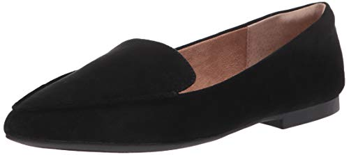 Amazon Essentials Women's Loafer Flat, Black, 8 Wide US