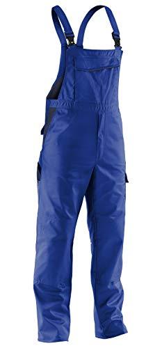 KÜBLER Workwear KÜBLER IDENTIQ Mix Arbeitslatzhose blau, Größe 62, Herren-Arbeitslatzhose aus Mischgewebe, Arbeitslatzhose mit Knieschutztaschen nach EN 14404, leichte Arbeitslatzhose