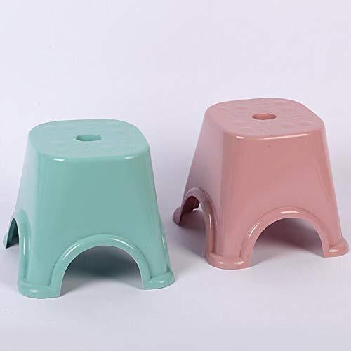 KIMSAI 2-Toon anti-slip kunststof kruk kinderstoel multifunctionele dikker anti-slip kunststof kruk set 2