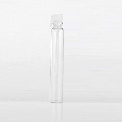 LASISZ 3ML Mini Glass Portable Sample Perfume Bottle Empty Parfum Essential Oils For Traveler,White