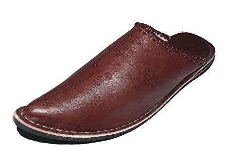 Marrakech Accessoires Orientalische Leder Schuhe Pantoffeln Hausschuh Slipper - Herren/Damen/Unisex - 905587-0002, Schuhgrösse:46