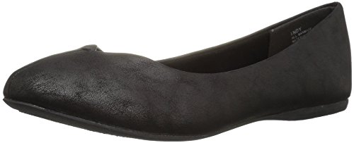 Jellypop Women's Indy Ballet Flat, Black Distress Small, 9 M US