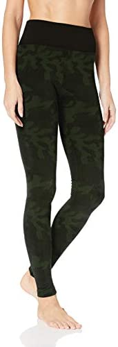 HUE Women s Brushed Seamless Leggings Assorted Brown Python S M product image