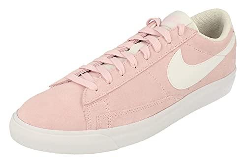 Nike Blazer Low Suede Hombre Trainers CZ4703 Sneakers Zapatos (UK 9 US 10 EU 44, Pink Foam White 600)