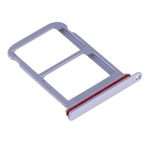 Cajón doble tarjeta SIM Nano morado (doble tarjeta SIM Nano) adaptador soporte bandeja chip para Huawei P20 Pro