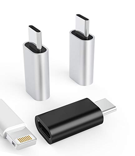 3Pack Lightning Female to USB-C Male Adapter,Type Charging for Samsung Galaxy S20 Ultra Z Flip Note S10 S9 Plus Google Pixel 5XL Compatible with Cable Converter Connector Charger LG Ipad Pro Air4 2020