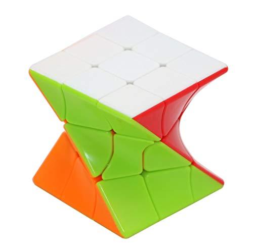 BTMING Neue 3x3 Torsion Magic Cube Crange-Form Magic Cube Bunte Twisted Cube Puzzle Pädagogische Spielzeug für Kinder Challange (Farbe : A)