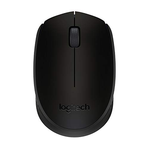 Logitech B170 Wireless Mouse, 2.4 GHz with USB Nano Receiver, Optical Tracking, 12-Months Battery Life, Ambidextrous, PC/Mac/Laptop – Black