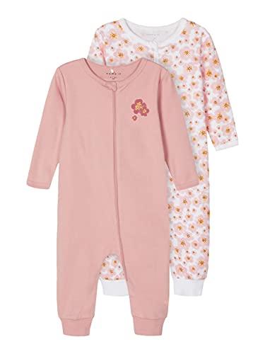 NAME IT Girl Schlafanzug 2er-Pack Reißverschluss 92Silver Pink