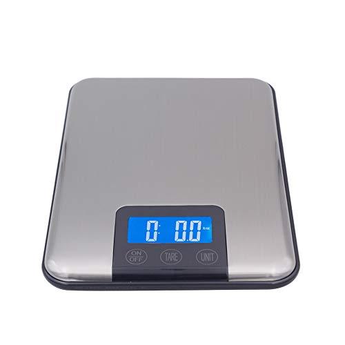Slim roestvrij staal LCD digitale keuken voedsel dieet weegschaal weegbalans touchscreen 15Kg 15000G 1G