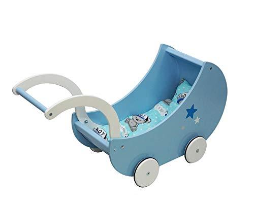 Skyline Trineo Infantil con Respaldo, colchón y Correa de plástico, Azul