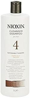 Nioxin System 4 Cleanser Shampoo For Fine, Noticeably Thinning, Chemically Treated Hair 1000ml (Pack of 6) - 罰金、著しく間伐、化学的に処理した毛髪の千ミリリットルのためのニオキシンシステム4クレンザーシャンプー x6 [並行輸入品]