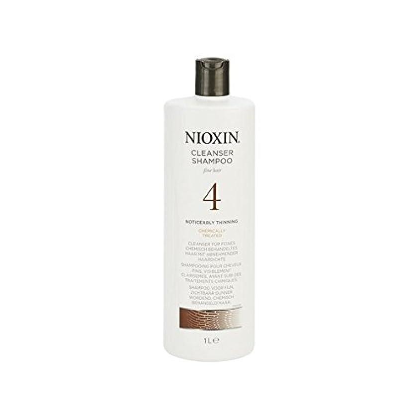 障害テザー曲Nioxin System 4 Cleanser Shampoo For Fine, Noticeably Thinning, Chemically Treated Hair 1000ml - 罰金、著しく間伐、化学的に処理した毛髪の千ミリリットルのためのニオキシンシステム4クレンザーシャンプー [並行輸入品]