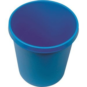 Helit Papierkorb rund 18l blau