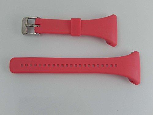 vhbw TPE Ersatz Armband L 11.5cm + 8.5cm passend für Polar FT4, FT4f, FT4m, FT7, FT7m Fitness Uhr, Smart Watch - pink