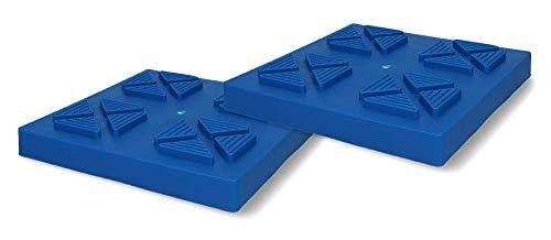 Cartrend 10395 Caravan Basisplatten für Stützböcke und Kurbelstützen für Wohnwagen und Wohnmobile, stapbelbar 2 Stück