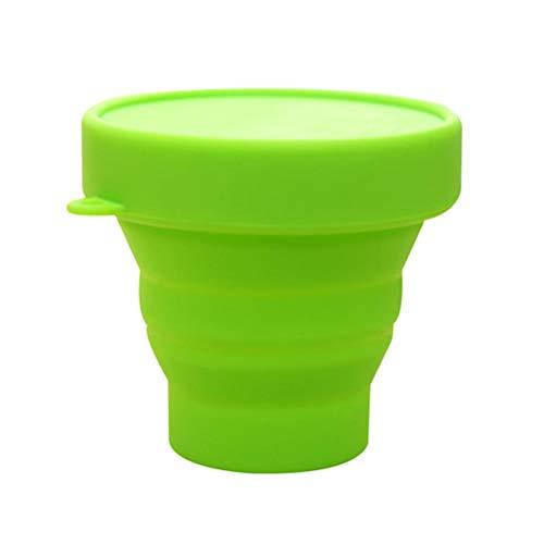 SayHia Opvouwbare siliconen beker voor het reinigen en bewaren van de herbruikbare en opvouwbare menstruatiebekerhouder voor de Moon Cup