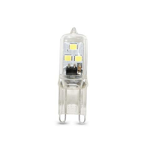 Lixada Bombillas LED G9 1W 360° Ángulo de Haz Omni Directional No Regulable Sin Parpadeos 6 Leds, Equivalente a una Bombilla Halógena de 20-40W