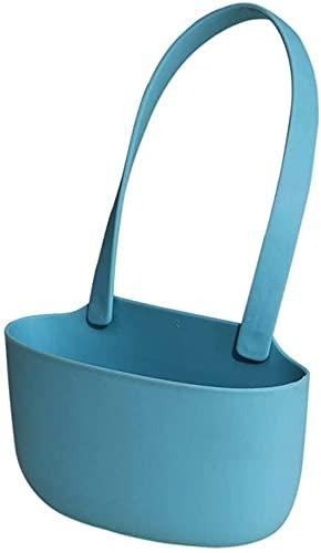 hwljxn Hängender Lagerkorb Multifunktions-Rag-Schwammhalter-Korb Aufbewahrungsständer (Color : Blue)