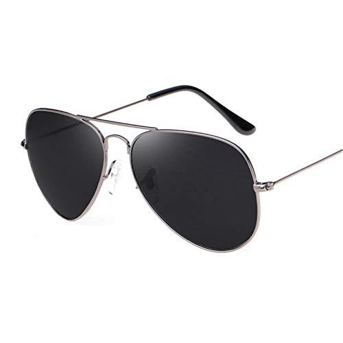 LDH Gafas de Sol polarizadas Hombre Mujere Gafas de Sol para Hombre Al Aire Libre, Gafas de Sol A Prueba De Explosiones Ultrales, Marco de Metal de Una Pieza, Protección UV400 (Color : A)