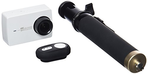 YI - Action camera sportiva 4K Wi-Fi con schermo LCD HD da 2,19 pollici, DVR, con Selfie Stick e telecomando Bluetooth