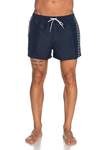 Calvin Klein - Pantalones Cortos de baño por Hombre (Black Iris, XX-Large)