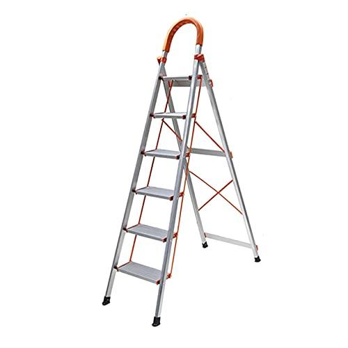 ADSE 4-5-6 Escalera de Paso Escalera de Escalera de Aluminio Plegable Escalera...