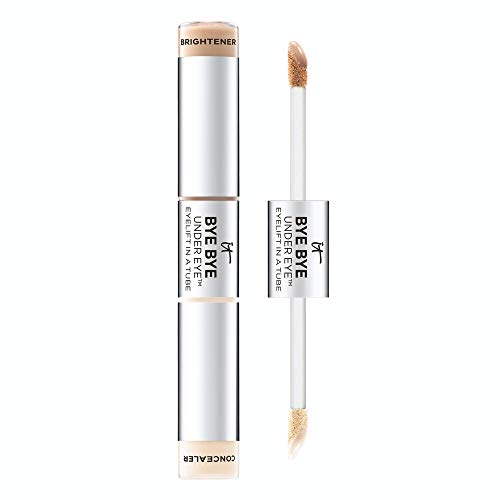 IT Cosmetics Bye Bye Under Eye Eyelift in a Tube, Light (W) - Anti-Aging Concealer & Brightener - Erases Imperfections, Adds Light & Lift - With Hydrolyzed Collagen - 0.36 oz