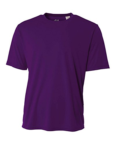 A4 Men's Cooling Performance Crew Short Sleeve, Purple, 4X-Large