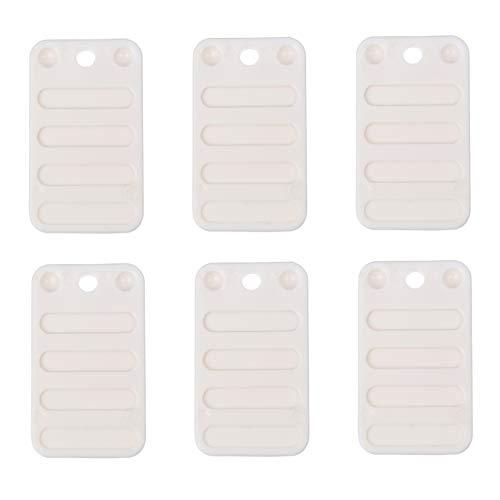 ULTECHNOVO 6Pcs Kunststoffmöbel Nivellierscheiben rutschfeste Möbelpolster Weiche Konstruktion Unterlegscheiben Möbel Fußmatten für Toilettentüren Fenster