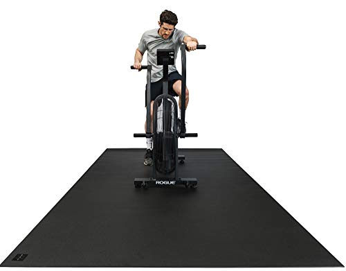 Square36 Large Fitness Equipment Mat 10 Ft x 6 Ft. Workout Mat Extra Large Made with The Highest Grade Materials.Gym Flooring Mat Fits Several Fitness Machines -Ellipticals, Treadmills, Rowers