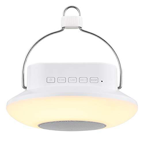 LE Lámpara LED de Mesa Portátil Recargable con Altavoz Bluetooth, Luz Ambiental Multicolor de noche, para Habitación de Niños, Bebé, Sala de estar
