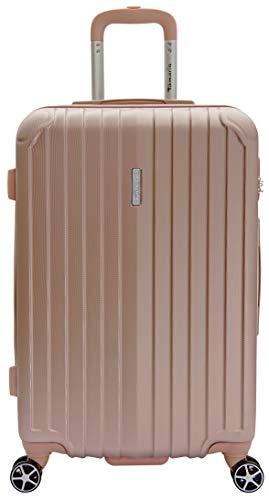 Tamaris Style Hartschalen Koffer, 4 Rollen Reisekoffer für Damen/Herren mit TSA-Zahlenschloss, 67,5x44,5x26-60L, Rose