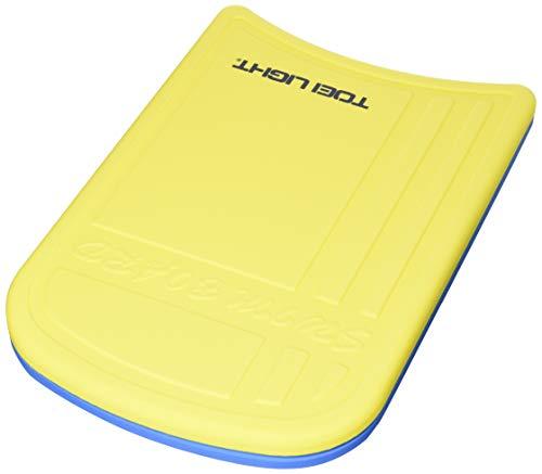 TOEI LIGHT(トーエイライト) スイミングボード 黄/青 B7894Y ビート板 練習用 表面スキン層により強度アップ 裏面スリット採用